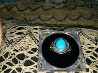 Beautiful Turquoise Sterling SilverRing 925 Revere, 02151