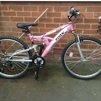 Pink and white full-suspension bike Blackpool, FY4 3LH