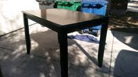 High Black Wooden Table 78242