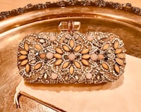NEW Classic Lily Embellished Clutch from Glam Evening Bags Feat. Marchesa Couture Arcadia, 91006