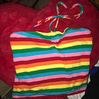 Rainbow tube top w optional strings Marina, 93933