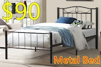 Brand new black metal platform bed frame in single and double  多伦多, M1S 4A9