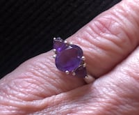Sterling Silver and Amethyst Ring Payette, 83661