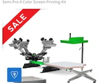 Semi pro 4 color screen printer kit Los Angeles, 91602