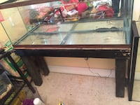 Black framed clear glass fish tank Phenix City, 36867