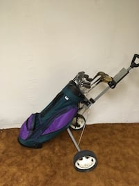 Golf set - old style Woods, lynx  irons, bag, and cart Dearborn, 48124