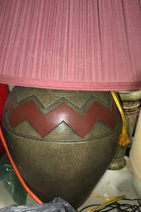 2 large ceramic lamps with maroon shades Fort Myers, 33905