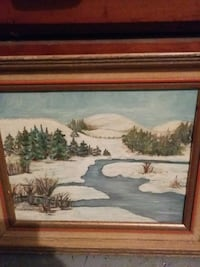 brown wooden framed painting of house near body of water Hamilton, L9C 1H4