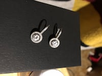 Sterling silver and diamond studded earrings Prince Frederick, 20678