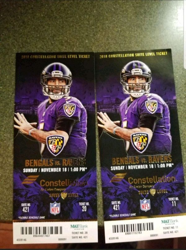 Raven's game tickets