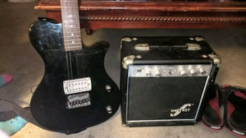 First act electric guitar and amp