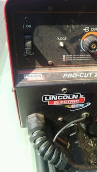 black and red  plasma cutter