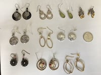 Ten pairs of dangly earrings Port Coquitlam, V3B 4K3