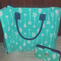 Turquoise Arrow bag and clutch. Lake Placid, 33852