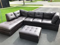 Brown faux leather couch Toronto, M9C 2S8