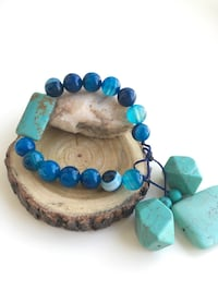 Blue agate and turquiose bracelet Hanover, 21076