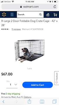 Large dog crate. Used a couple of times only. Actual size is 36x28, NOT 42x28 Fairfax, 22030