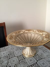 round brown wooden framed glass top table Toronto, M2K