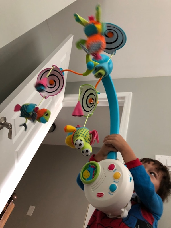 toddler's multicolored activity toy