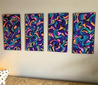 4 piece, original painting set(artwork)