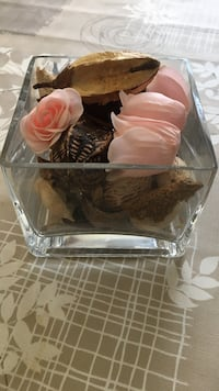 assorted decors in clear glass cup Ottawa, K1V 0Y6