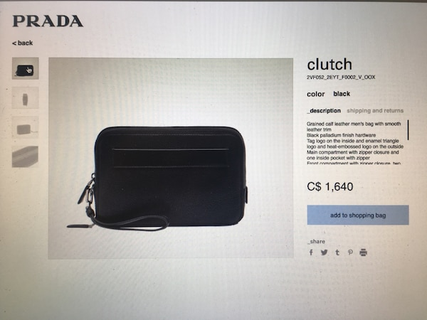 d821ef642943 Used Prada Travel Clutch for sale in Sherwood Park - letgo