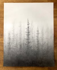 "Original Forest Drawing - 11""x14"" Tampa, 33611"
