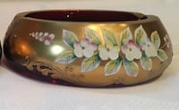 white and pink floral ceramic bowl Toronto, M5V