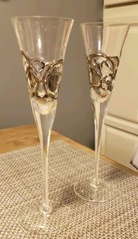 Champagne Flutes with leather carrying case  Haverhill, 01835