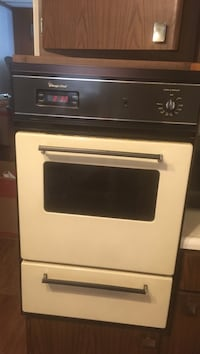White wall oven