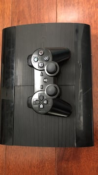 Black sony ps3 super slim console with controller Corona, 92882