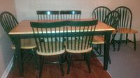 solid wood country charm dining table and 4 chairs Brampton
