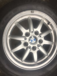 Gray bmw 5-spoke wheel with tire Herndon, 20171