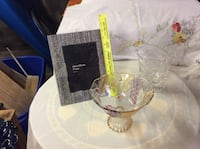 Vase,Frame, and Candy Dish.  Glassware Fallston, 21047