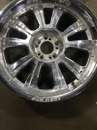 20 inch falken chrome rims