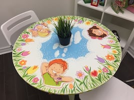 Hand Painted Round Table ( I painted )