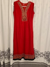 women's red and brown sleeveless dress Ajax, L1Z 0R4