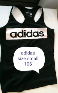 black and white Adidas tank top Montréal, H2P 1Z4