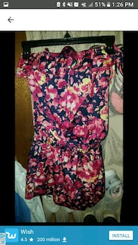 women's pink and black floral dress Moss Point, 39562