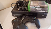 black Xbox One console with controller and game cases Findlay, 45840