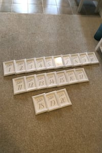 Wedding guest table numbers. 1-20 Hamilton, L0R 1P0