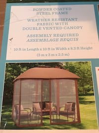 As  new Gazebo with mosquito net