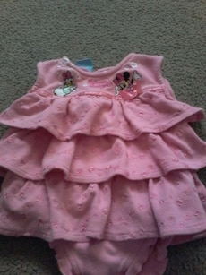 0 to 3 month onsie dress