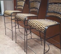 Three black metal framed brown wicker chairs Hyattsville, 20783