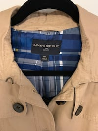 white and blue plaid button up jacket Toronto, M6E 4H1