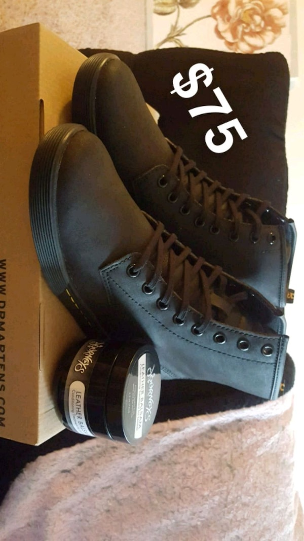 variety design detailed look quality products Dr. Martens size 7 & leather balsam