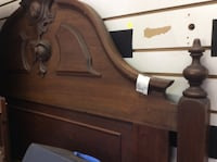 brown wooden headboard and footboard Gainesville
