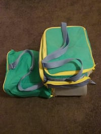 green and yellow lunch box