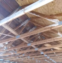 Barn Trusses and shiplap Wood
