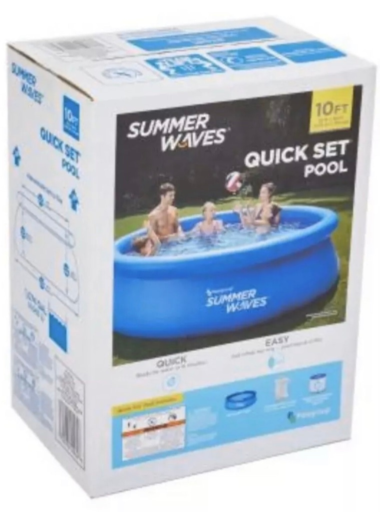 Photo Summer Waves Quick Set Up 10 Ft X 30 Inch, Pool, Cover Included & pump